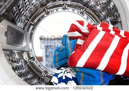 Inside The Washing Machine.