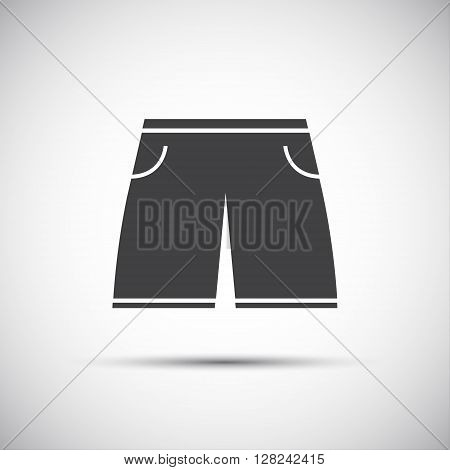 Simple icon of long men's swimming suit vector illustration