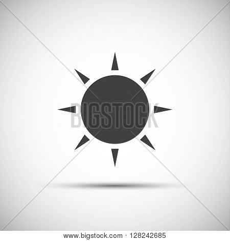 Simple sun icon vector illustration for your print websites and apps