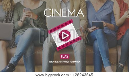 Cinema Audience Entertainment Movie Theatre Concept