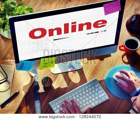 Online Internet Digital Connection Networking Concept