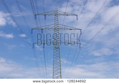 Photo of high voltage electric power transmission lines