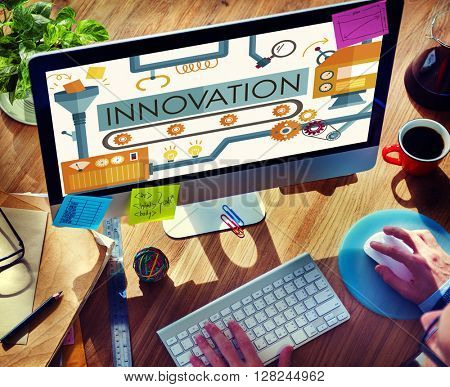Innovation Ideas Imagine Processing System Concept