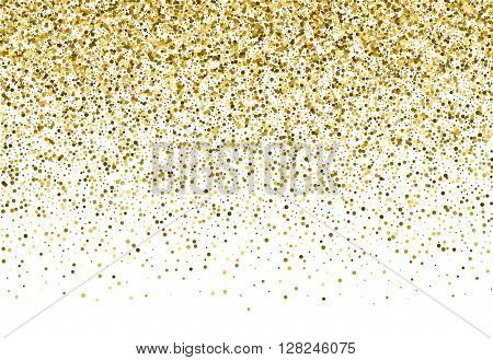 Gold sparkle vector template for your text. Explosion of confetti circles. Template for your design.