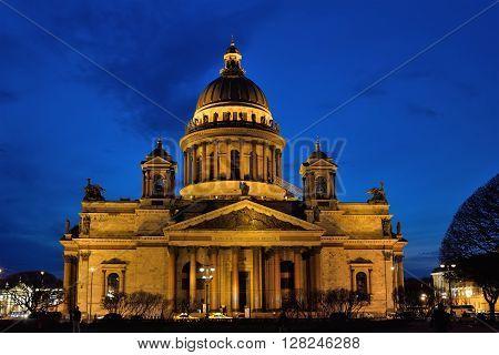 St. Isaac's Cathedral At Night