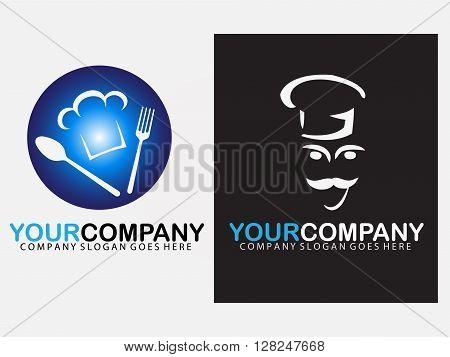Chef cuisine logo , cusine representing design