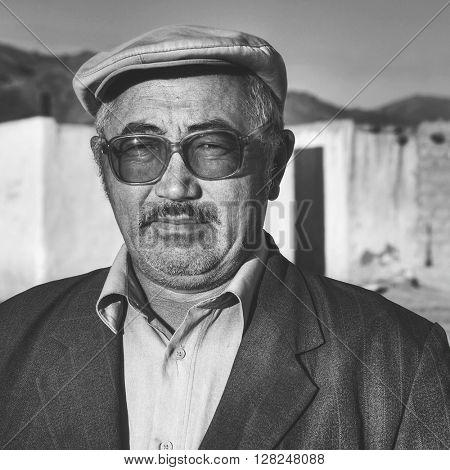 Mongolian Man Curiosity Ethnicity Portrait Male Concept