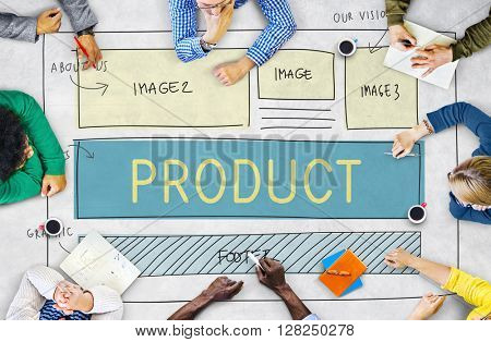 Product Production Manufacturing Supply Distribution Concept