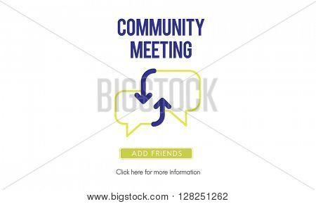 Community Meeting Communication Internet Technology Concept