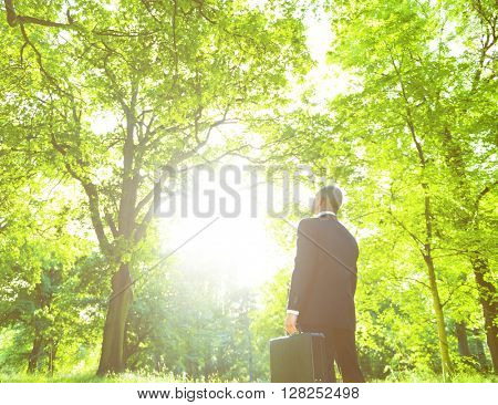 Green Business Outdoors Environment Concept