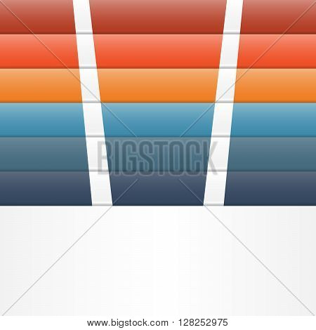 Colour strips for template infographic six position