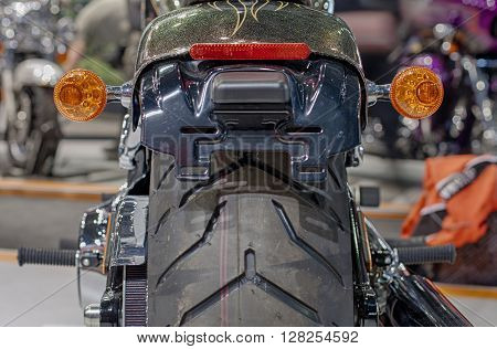 Close Up Of Motorcycle Rear Lights
