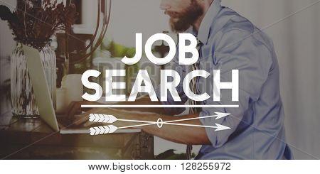 Job Search Career Hiring Human Resources Work Concept