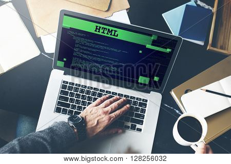 Html Programming Advanced Technology Web Concept