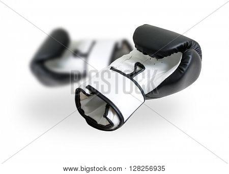 Boxing gloves on white