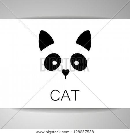 Cat animal sign. Cat logo template. Cat illustration idea for logo, emblem, symbol, icon. Vector illustration.