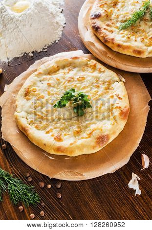 Ossetian pie with homemade cheese