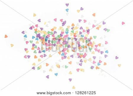 Sugar sprinkle dots, decoration for cake and bakery, a lot of sprinkles as a background