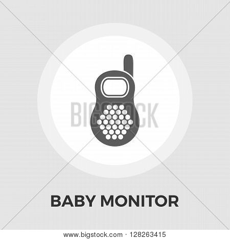 Baby monitor Icon Vector. Flat icon isolated on the white background. Editable EPS file. Vector illustration.