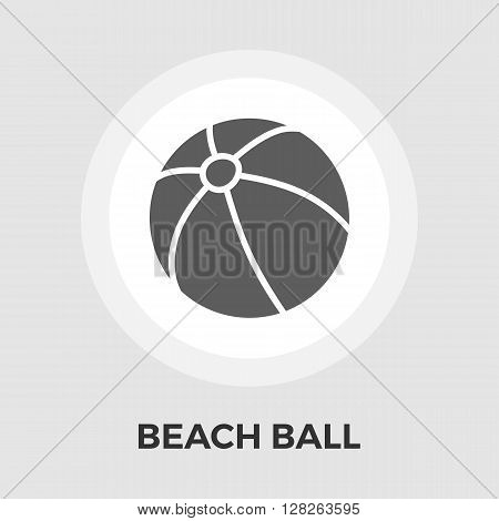Beach ball icon vector. Flat icon isolated on the white background. Editable EPS file. Vector illustration.