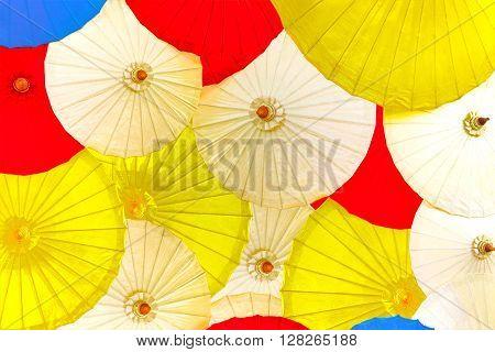Multi colorful umbrella pattern Colorful umbrella for background