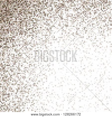 Diffuse pixel square mosaic vector background design