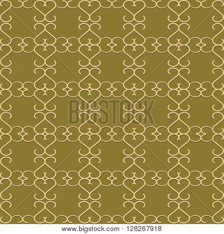 The pattern with decorative ornament in vintage style