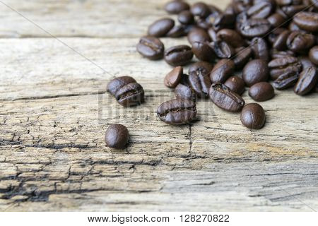 Coffee beans on wood background, bean, coffee, roast, r
