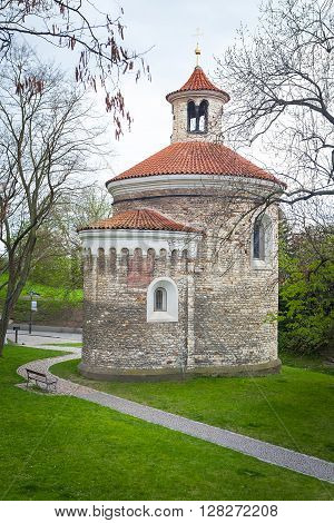 Oldest Rotunda of St. Martin in Vysehrad, Prague, Czech Republic