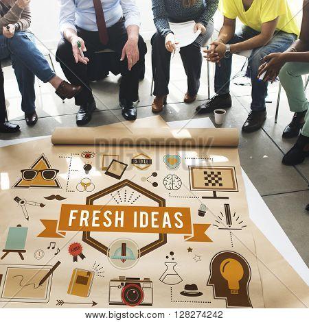 Ideas Design Innovation Objective Strategy Tactics Concept