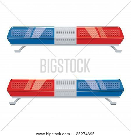 Police light vector illustration. Police car sign isolated on a white background