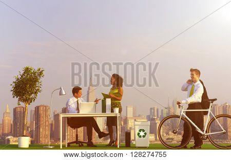 Environmentally Green Office City