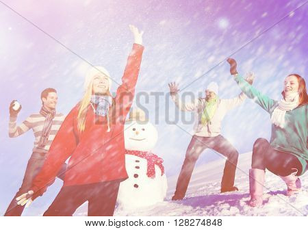 Christmas Cheerful People Holiday Winter Friendship Concept