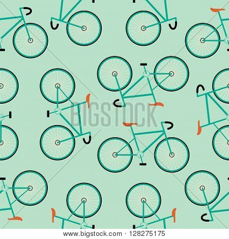 Simple Racing Bicycles Seamless Pattern