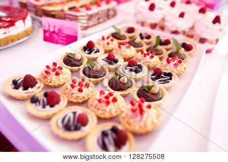 Delicious Sweets On Candy Buffet