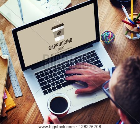 Cafe Coffee Culture Cappuccino Coffee Beans Concept