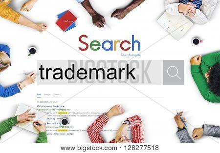 Trademark Branding Copyright Product Identity Marketing Concept