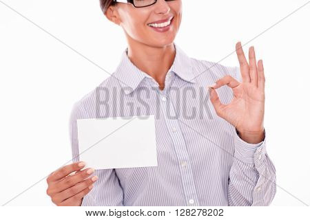 Businesswoman With Blank Copy Space, Cropped