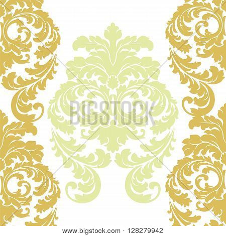 Vector floral damask pattern background. Luxury classic floral damask ornament royal Victorian vintage texture for wallpapers textile fabric. Floral baroque element