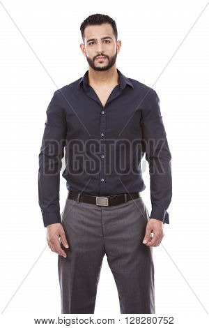 Successful Businessman On White