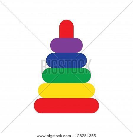 Pyramid toy. Children and variety of children toys