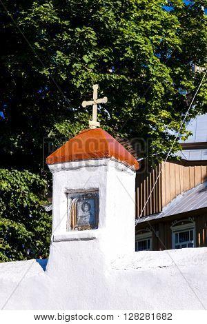 wooden church in Trzescianka, Podlaskie Voivodeship, Poland