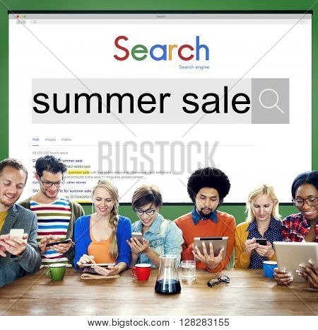 Summer Sale Discount Clearance Marketing Promotion Concept