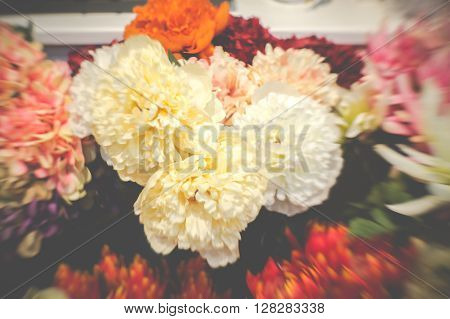 Artificial Flower Made From Cloth Fabric