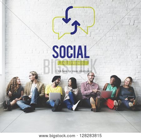 Social Community Meeting Chatting  Concept