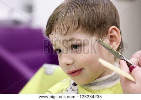 Boy At The Barbershop