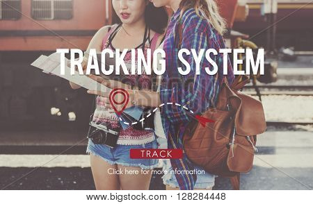 Tracking System Electronic Fitness Gadget Workout Concept