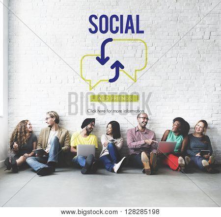 Social Communication Technology Concept