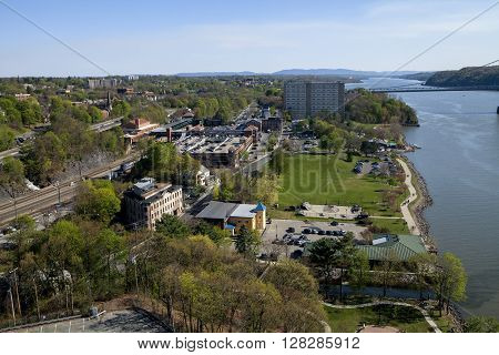 The Waterfront on the Hudson in Poughkeepsie New York