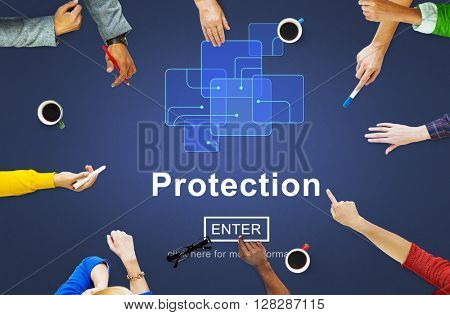 Protection Safety Security System Privacy Policy Concept